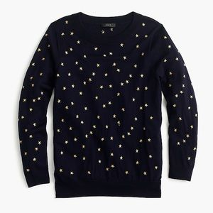 NWT! J. Crew Tippi sweater in embroidered stars